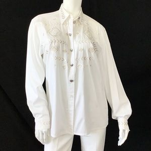 VINTAGE ESCADA MARGARETHA LEY Aztec cotton shirt
